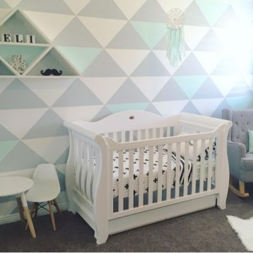Eli's Room – A DIY Dream in mint, grey and white