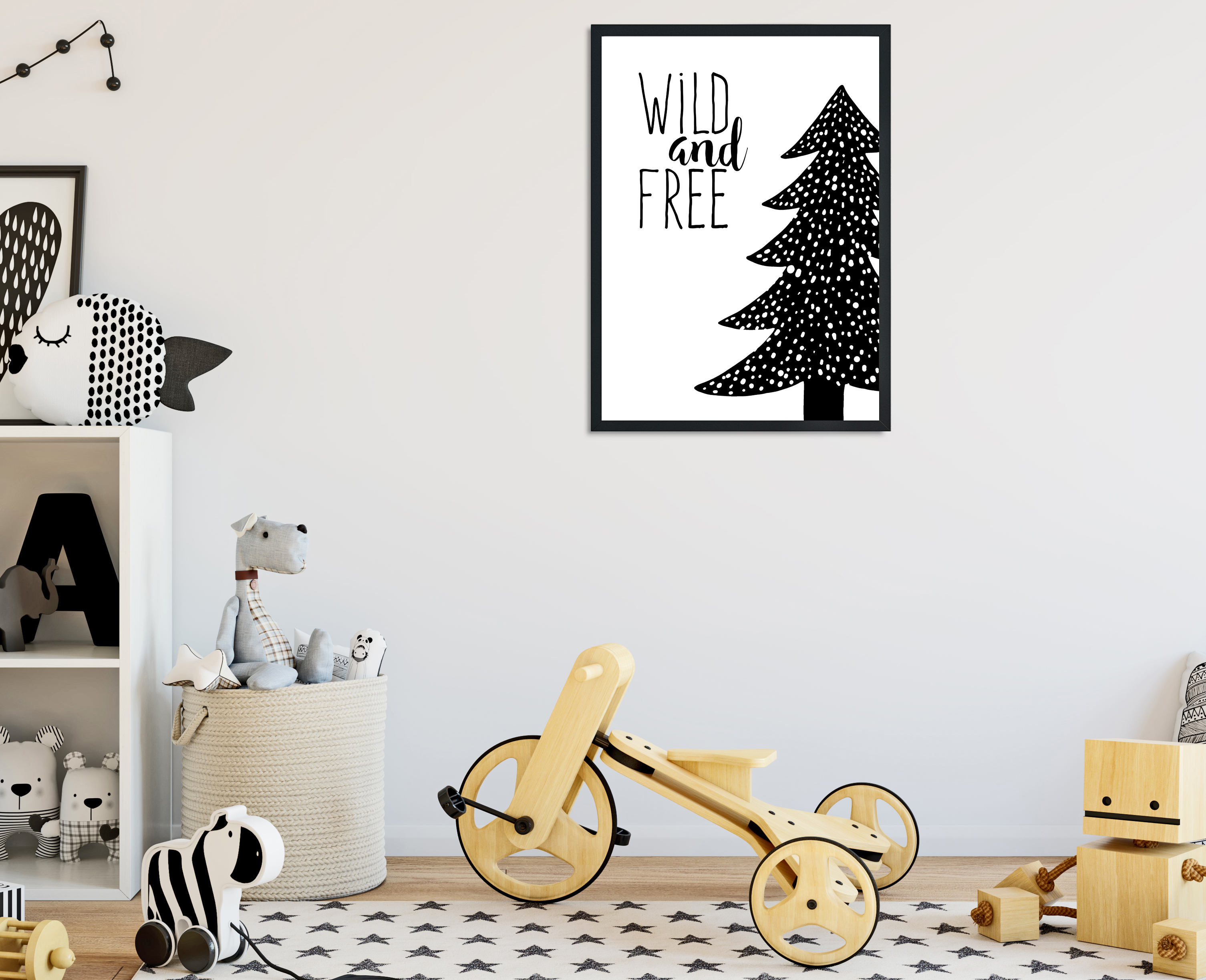L and T Designs Wild and Free print