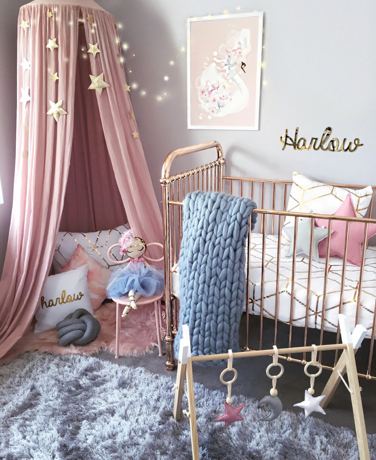 Metallic nursery decor