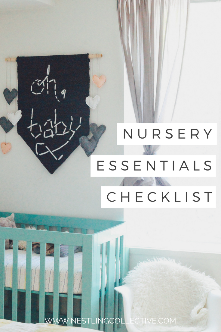 Ellen, aka The Stylist Mama, lists the absolute must-haves for setting up a new nursery. After all, you don't just want it to be comfortable for your new arrival – you're going to be spending a whole lotta' time in there too, mama! Nursery Planning | Nursery Essentials | Nursery Checklist