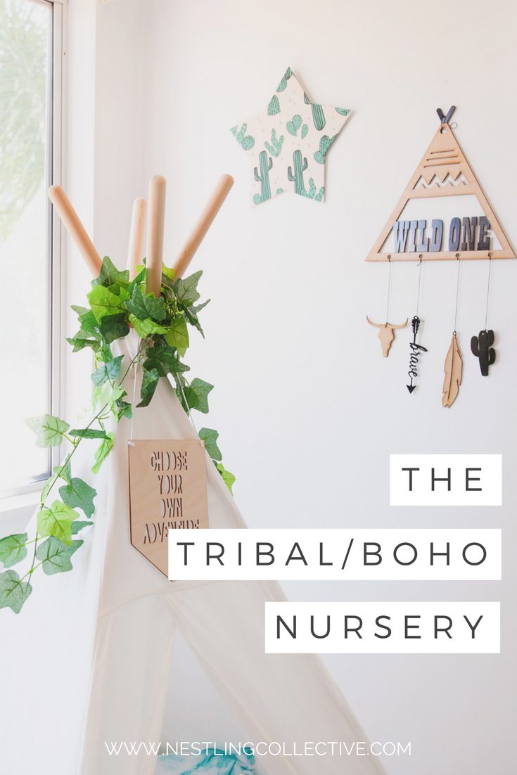 A nursery that's a little bit tribal, a little bit boho. Either way, this nursery is just as perfect for your boho babe as it is for your wild child. Boho Nursery | Tribal Nursery | Baby Boy Nursery