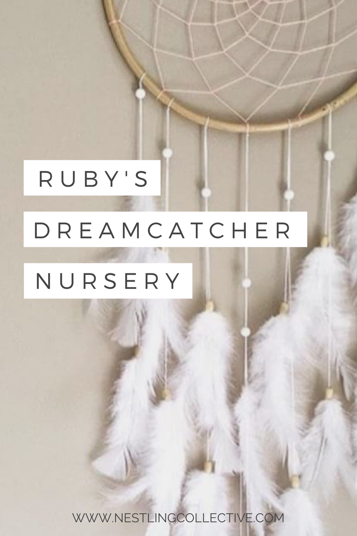 Love dreamcatchers? You're not alone! Emily shares how she used dreamcatchers, feathers and a pastel colour palette to create a calming space for little Ruby Jean - the perfect baby girl's nursery. Nursery Ideas | Pastel Nursery | Girl Nursery