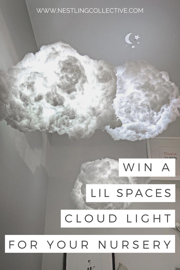 Together with Shah from Lil Spaces, we are giving away a beautiful Cloud Light (valued at $170) for your little one's nursery. Read on to find out how you can WIN! Nursery Lighting | Nursery Decor | Cloud Light