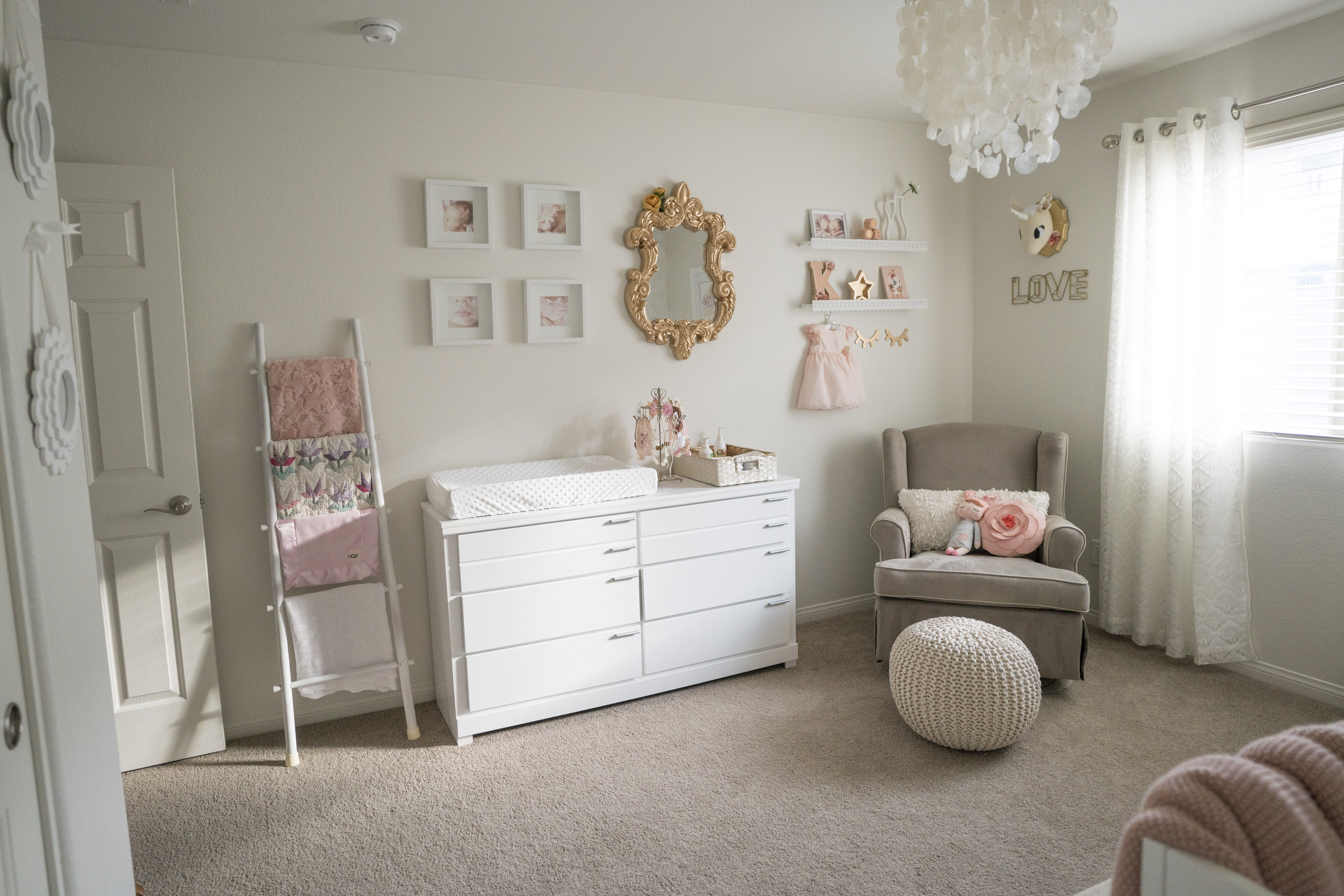 Real Nursery Styl | Katje's Room - A Modern and Elegant Pink Nursery | www.nestlingcollective.com