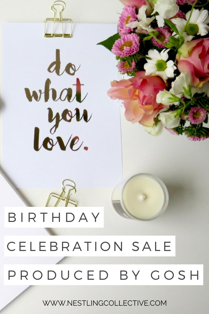 Produced by Gosh is celebrating a 4 years in business with a HUGE sale - get 40% off their beautiful coloured foil prints for your nursery and kids rooms. Nursery Art | Nursery Ideas | Kids Room Decor