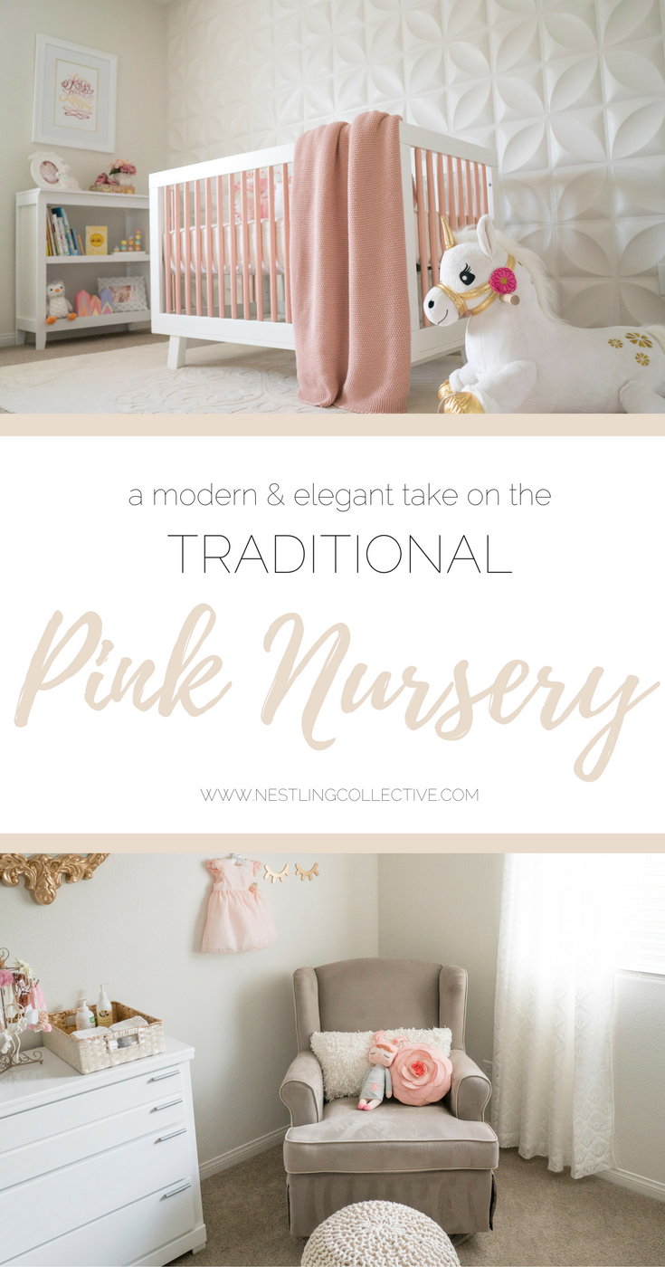 Pink done RIGHT! Britta has created the most divine space for her 4-month-old daughter, Katja (on Instagram as @lovely_katja) with a modern and elegant take on the traditional pink nursery...