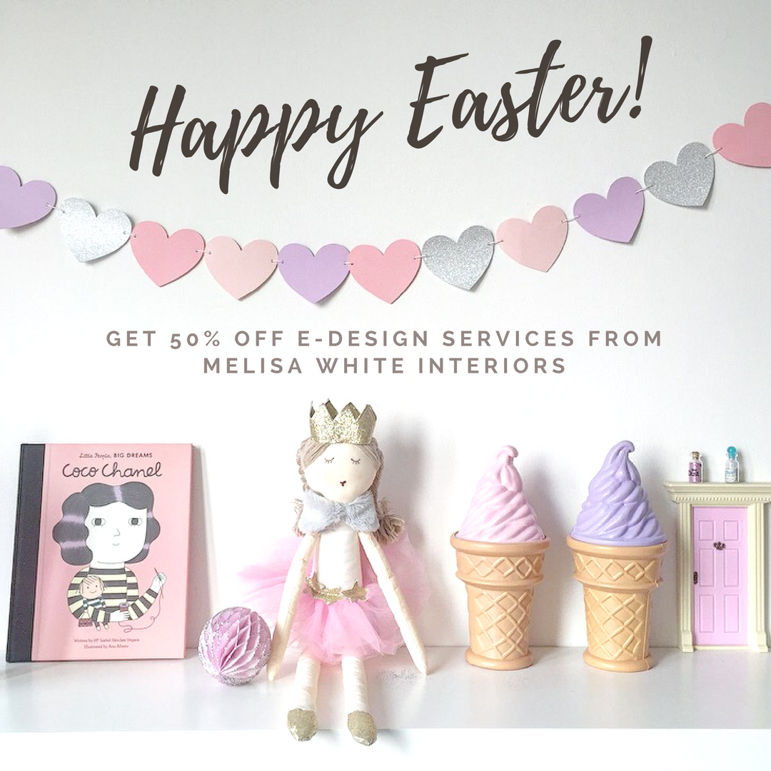 Babe Behind the Biz: Melisa White Interiors | Easter Promo: 50% off E-Design Service | www.nestlingcollective.com