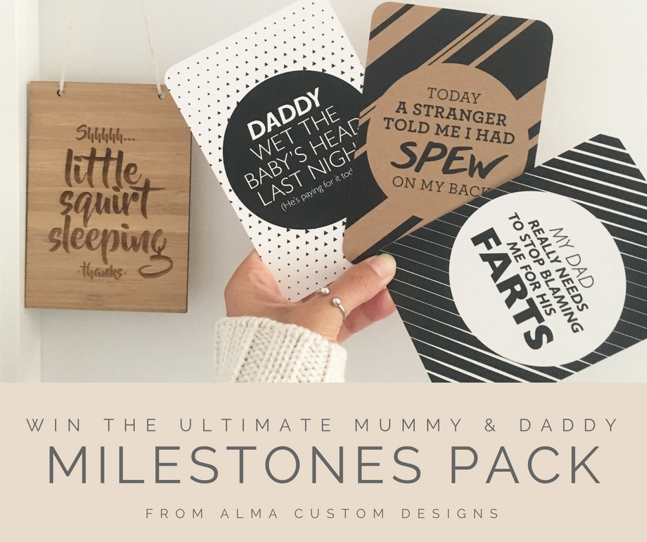 Win the Ultimate Mummy & Daddy Milestones Pack from Alma Custom Designs | www.nestlingcollective.com