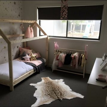 Saffron's Room: A pretty mix of Scandi design + fairy lights + pink & gold