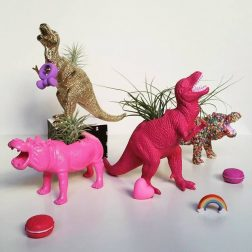 Squiddy Design Co | Upcycled dino planters and animal planters | www.nestlingcollective.com