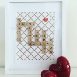 Initial This | Beautiful, personalised keepsake scrabble frames | www.nestlingcollective.com