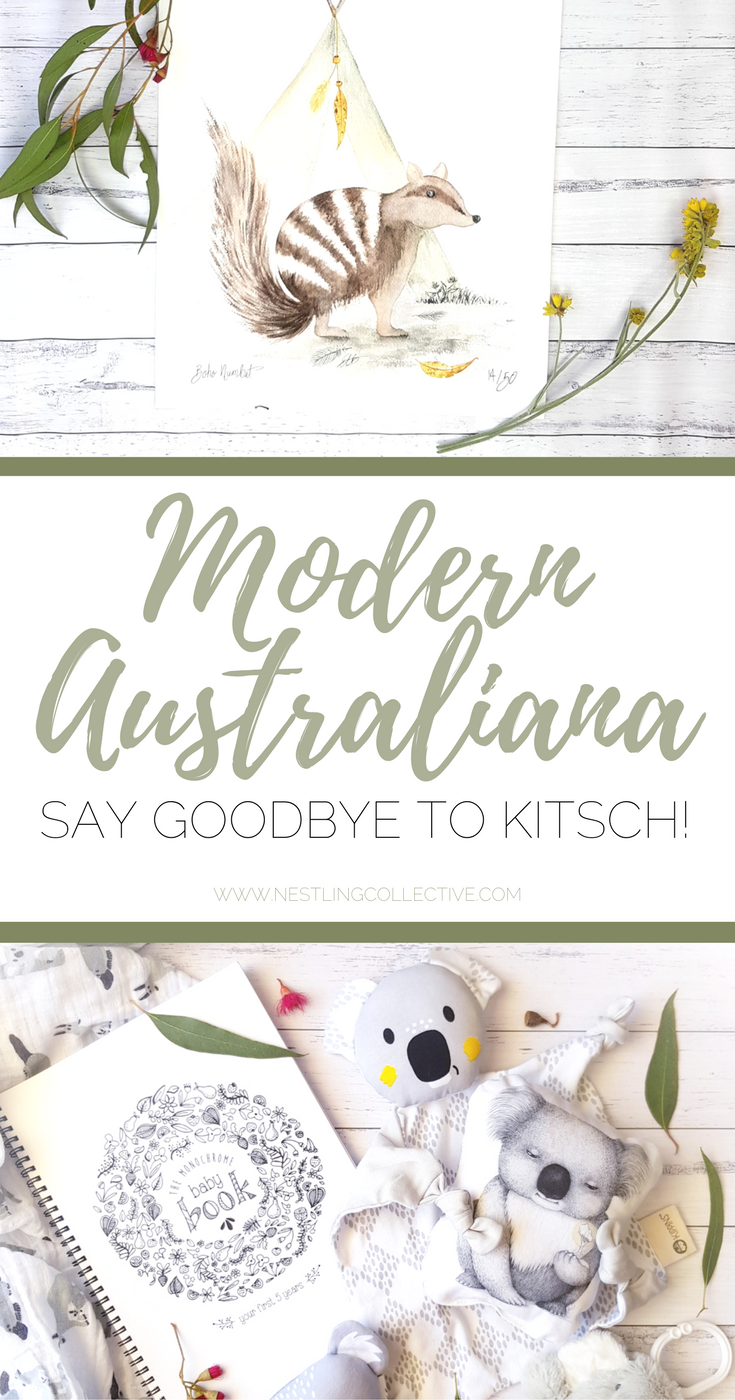 Modern Australiana in the nursery - Say goodbye to kitsch! | www.nestlingcollective.com