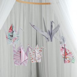 KamiKashii | Handmade origami mobiles hung from beautiful bamboo and Surf Coast driftwood | www.nestlingcollective.com