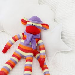 Squiggly Monkeys | Lovely handmade sock monkeys | www.nestlingcollective.com
