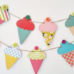 ahomeinsuburbia | Whimsical, one-of-a-kind cardstock bunting and nursery decor for children's rooms | www.nestlingcollective.com