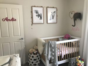 Andie's Room: Gorgeous Shades of Gray and Pink | www.nestlingcollective.com
